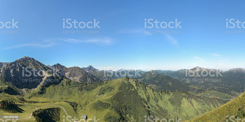 Fellhorn-View - Hochifen, Widderstein and Gottesacker, Kleinwalsertal stock photo