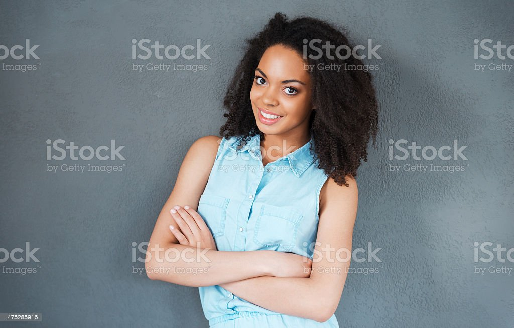 Felling carefree and relaxed. stock photo