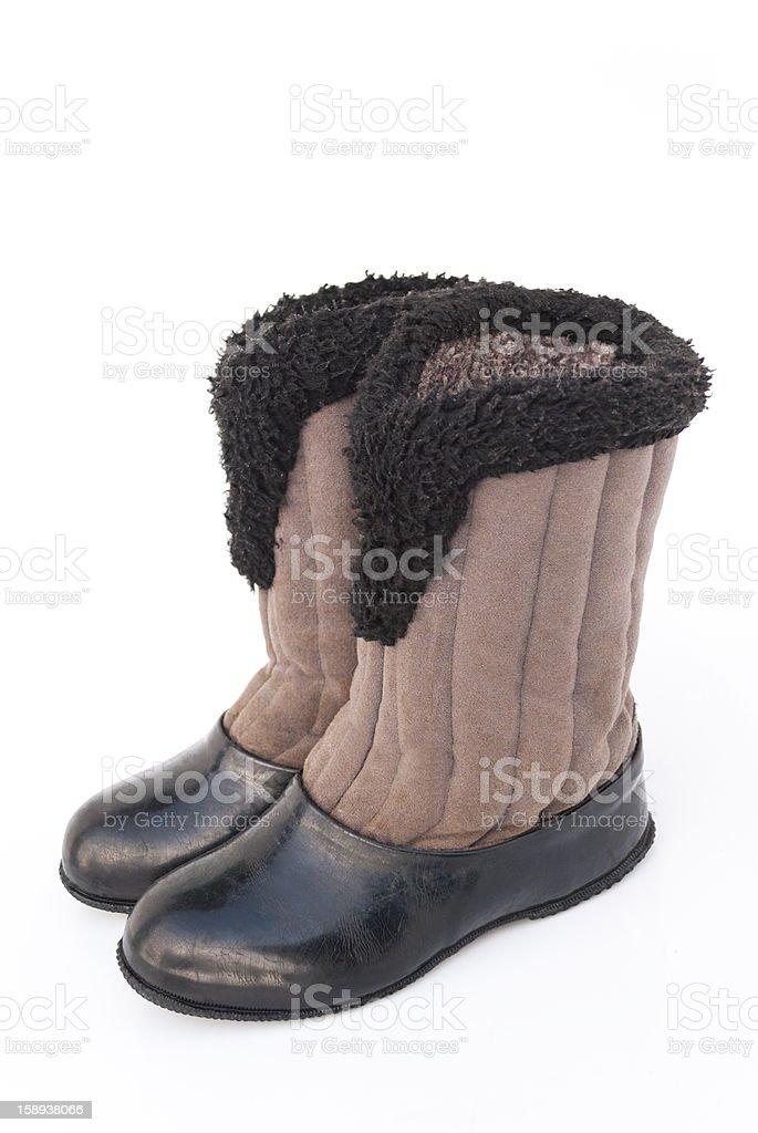 felt boots stock photo