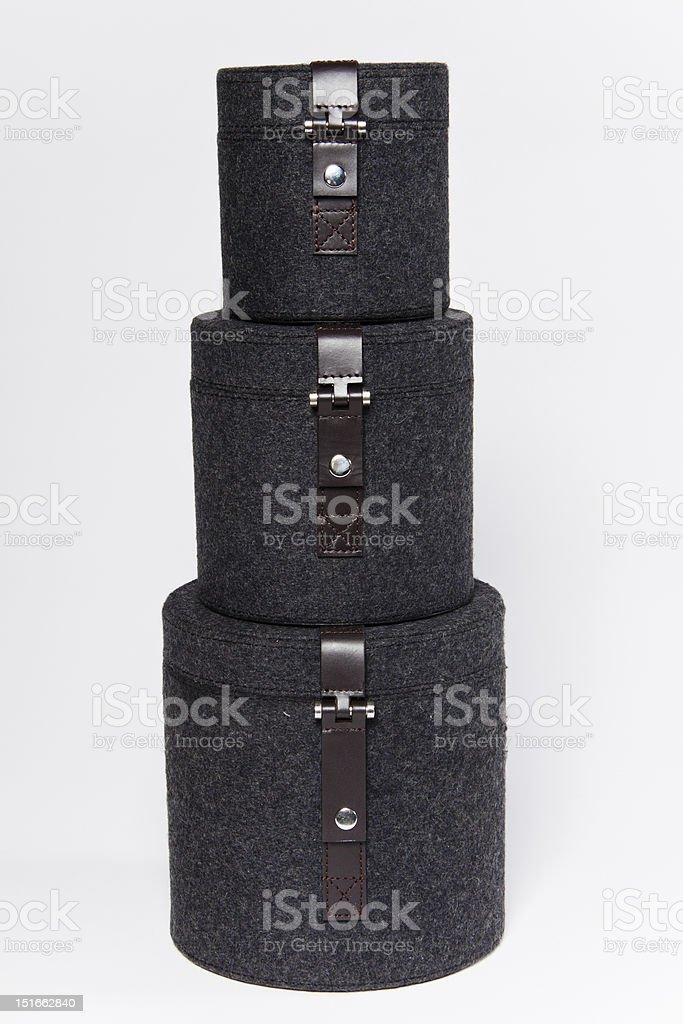 Felt Boxes royalty-free stock photo