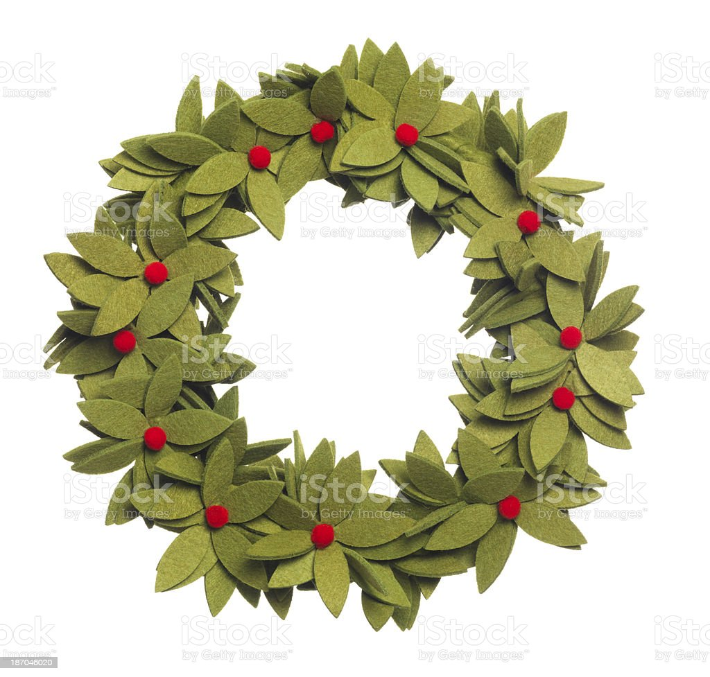 Felt Christmas Wreath royalty-free stock photo
