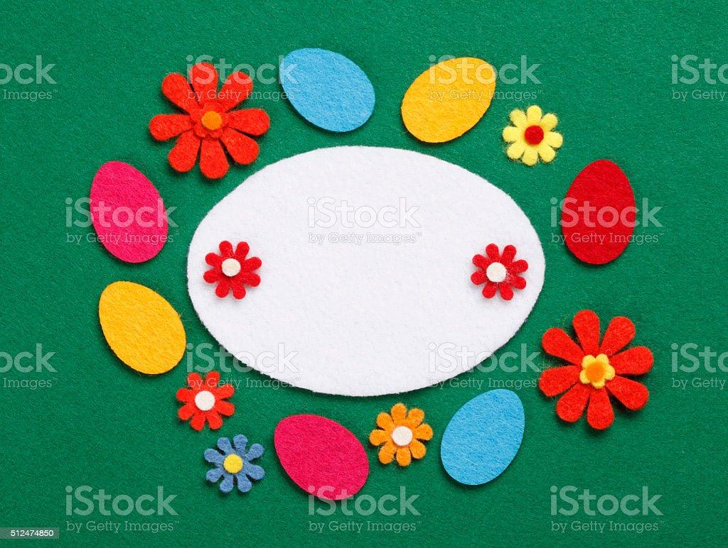 Felt Easter Decoration stock photo