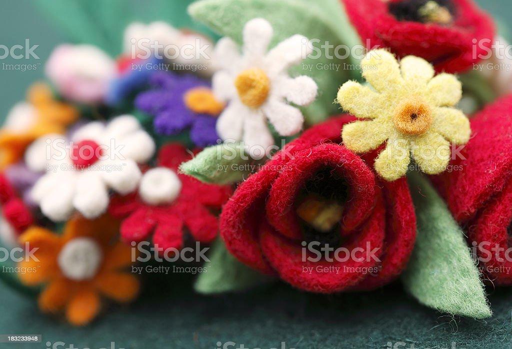 Felt Flowers royalty-free stock photo
