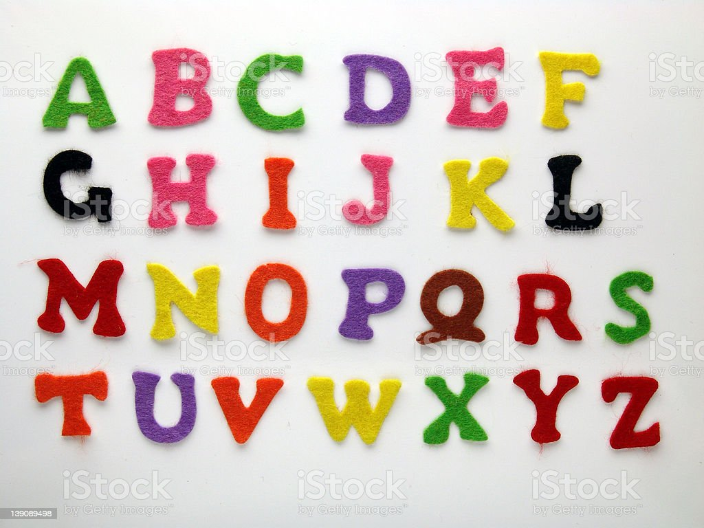 Felt Font stock photo