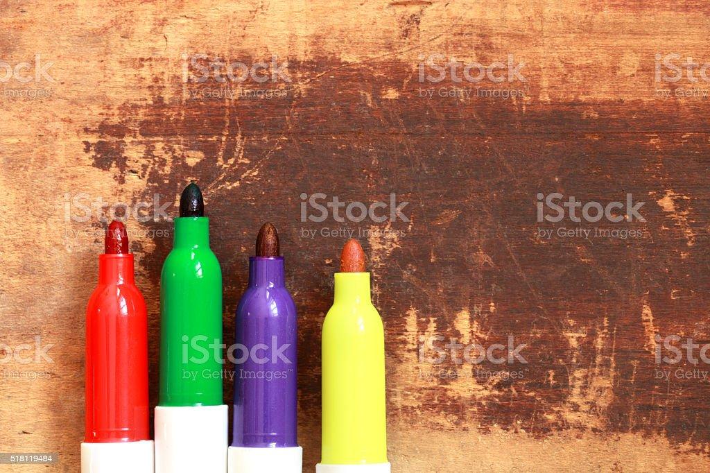 Felt pens stock photo