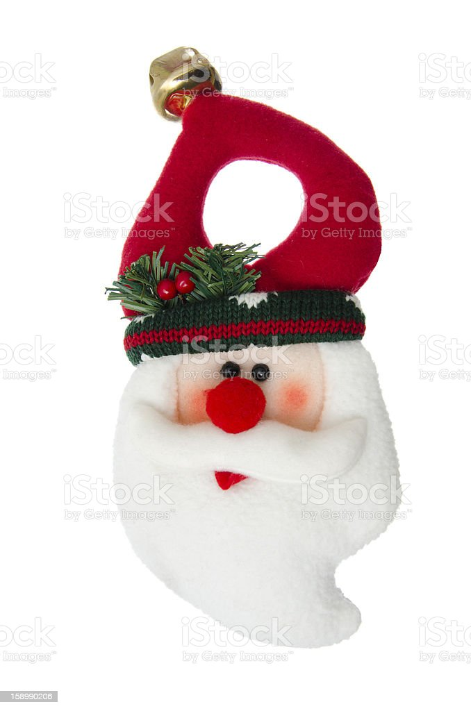Felt Santa ornament isolated on white stock photo
