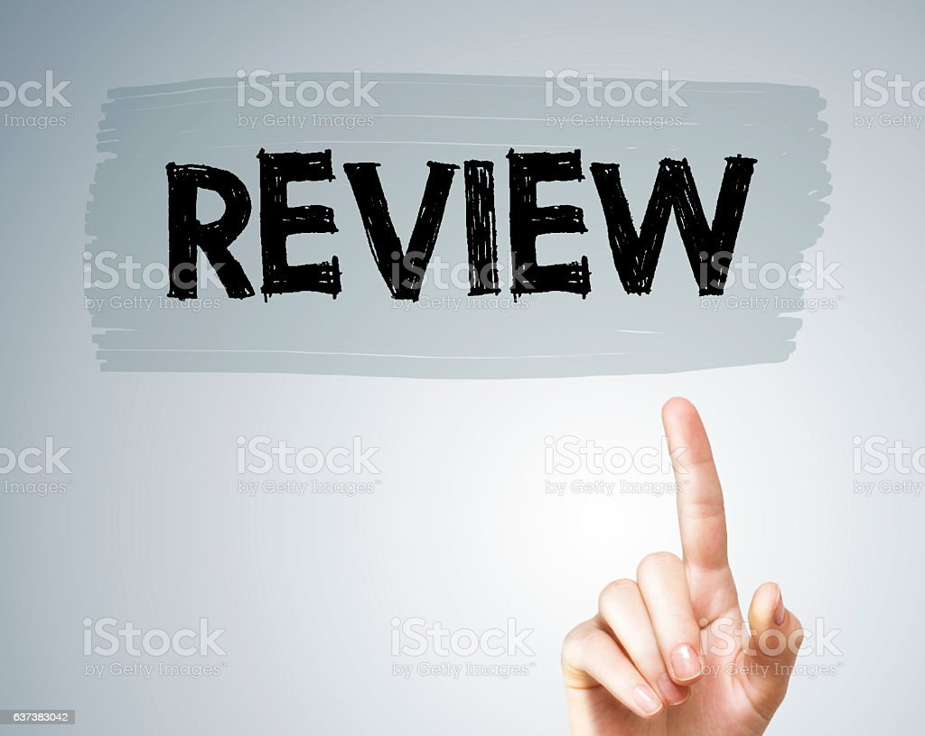 REVIEW / Felt tip pen concept (Click for more) stock photo