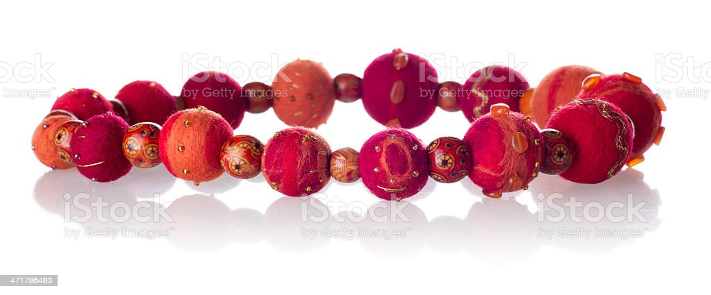 Felted boutique necklace royalty-free stock photo