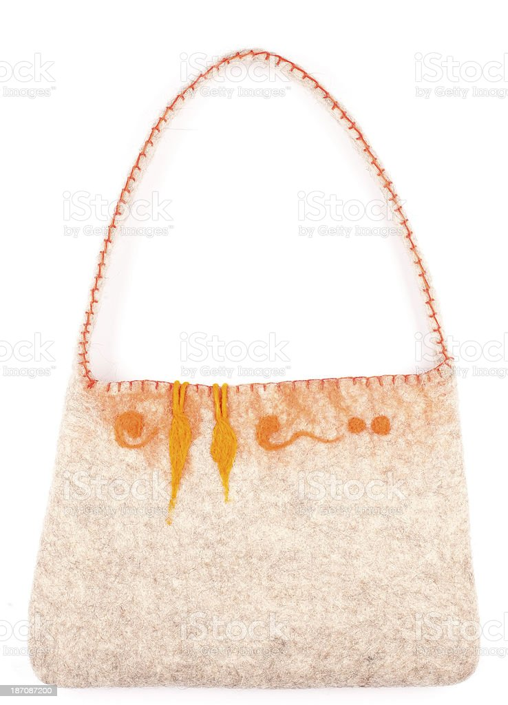 Felted Purse royalty-free stock photo