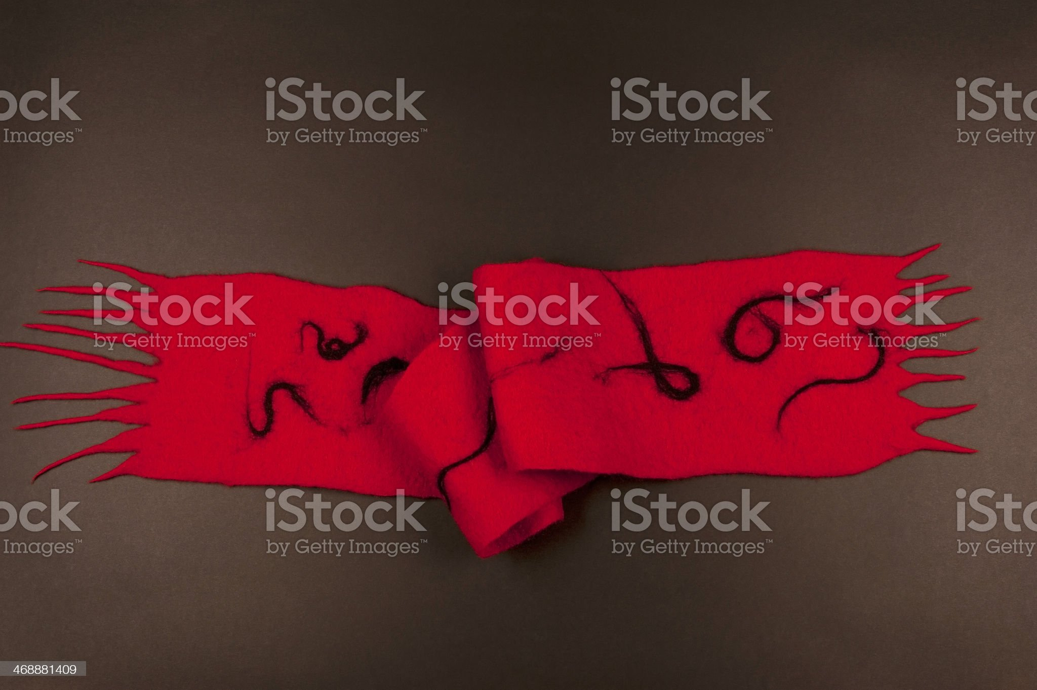 Felted Wool Scarf with Abstract Pattern royalty-free stock photo