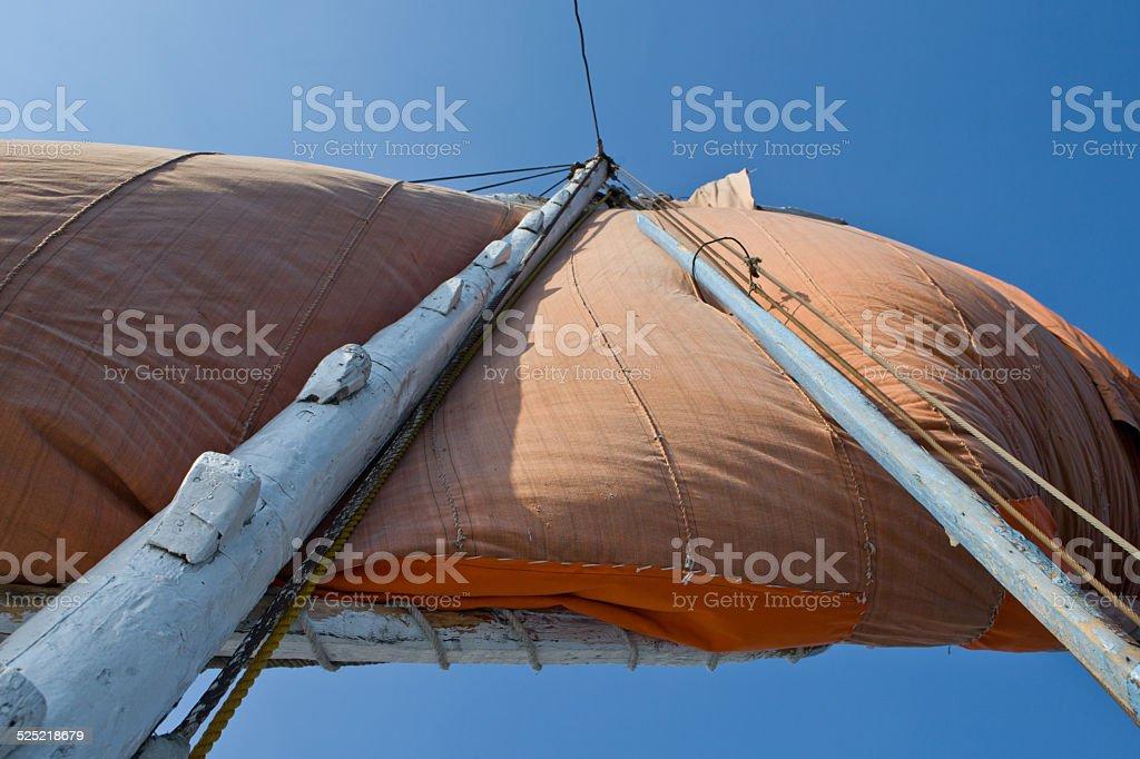 Felucca mast stock photo