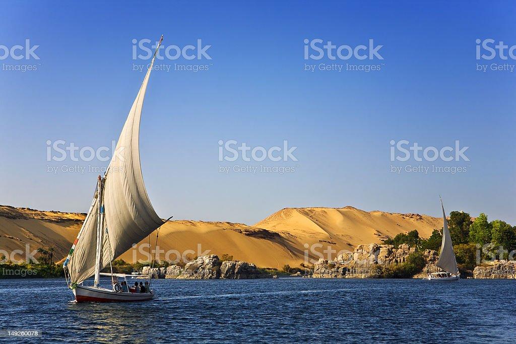 Felucca Nile cruise royalty-free stock photo