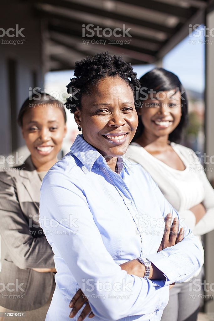 Female African Business team royalty-free stock photo