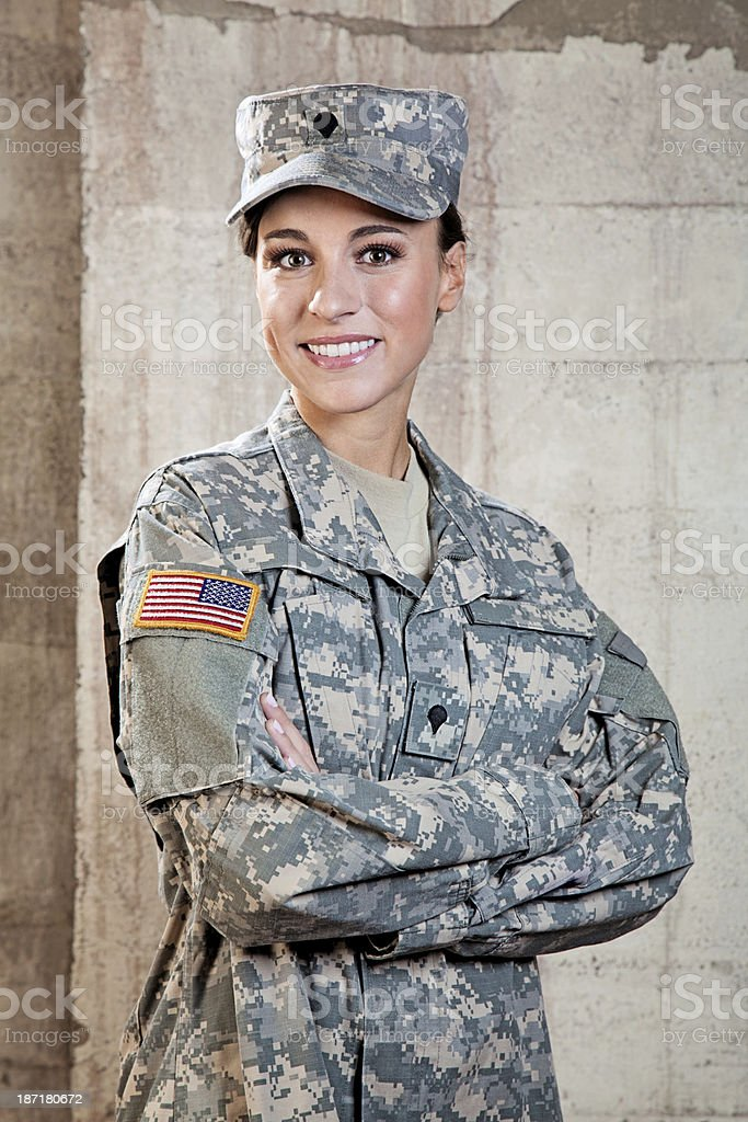 Female American Soldier royalty-free stock photo