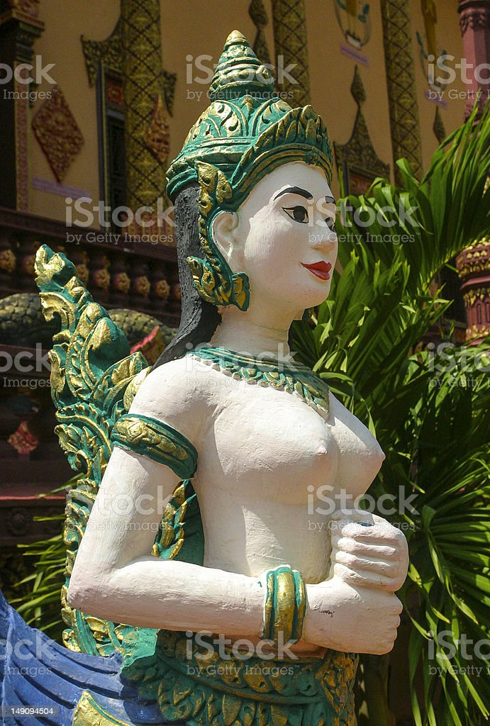 Female Ancient Statue, Buddhist stock photo