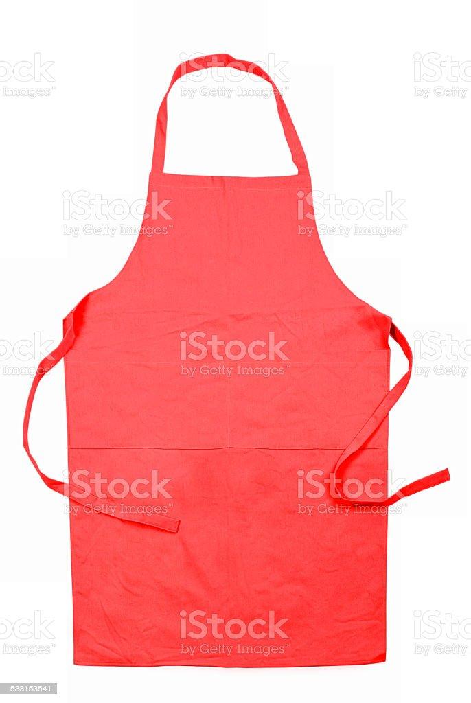 female apron isolated on white background stock photo