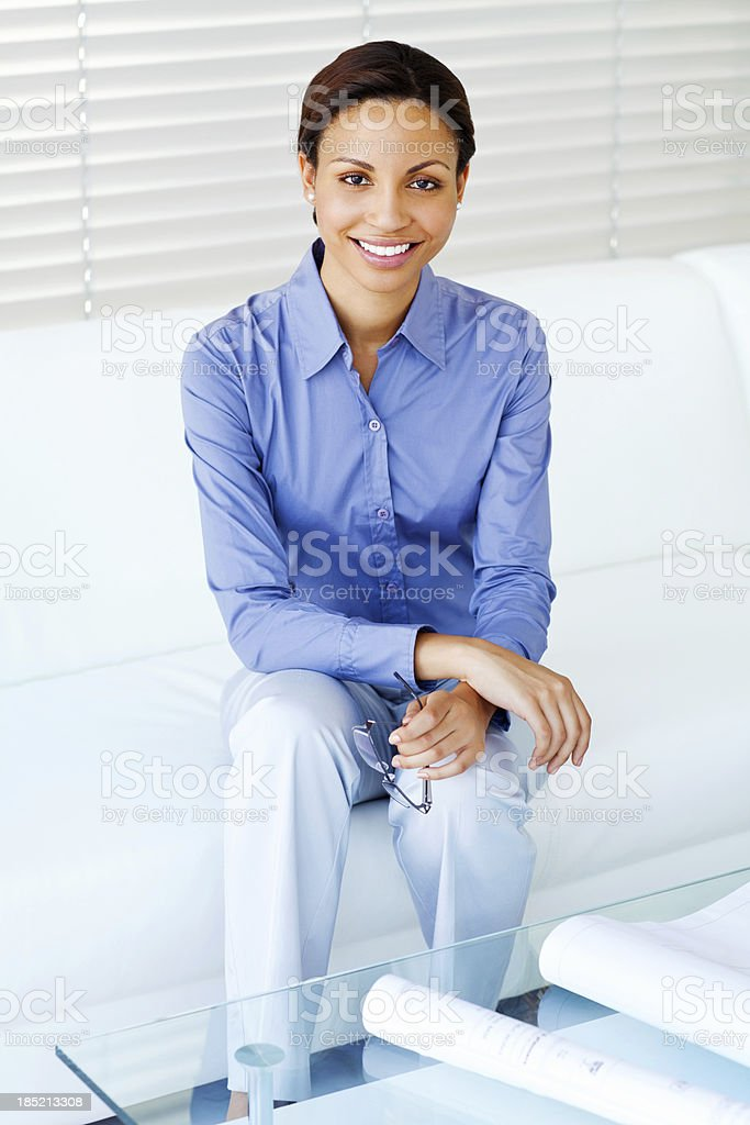 Female Architect at Office royalty-free stock photo