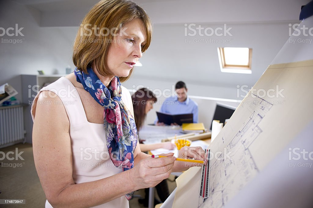 female architect or interior designer royalty-free stock photo
