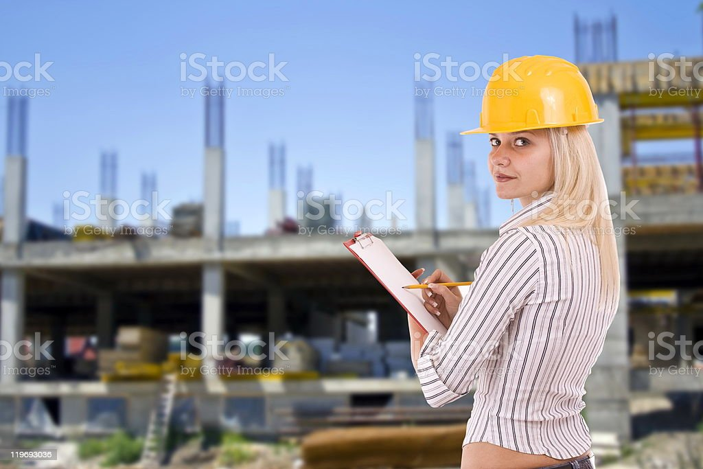 Female architect royalty-free stock photo