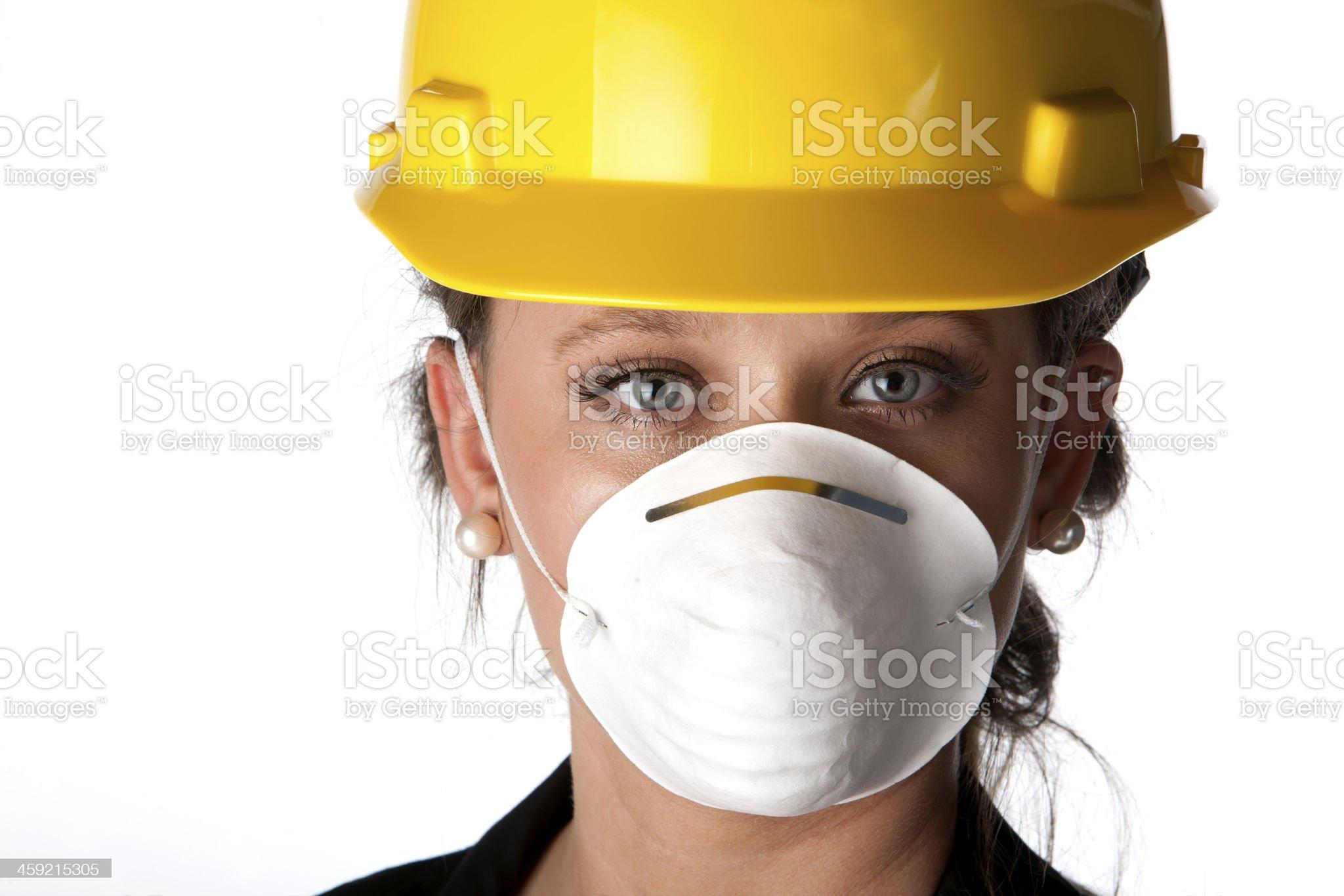 Female architect wearing mask royalty-free stock photo