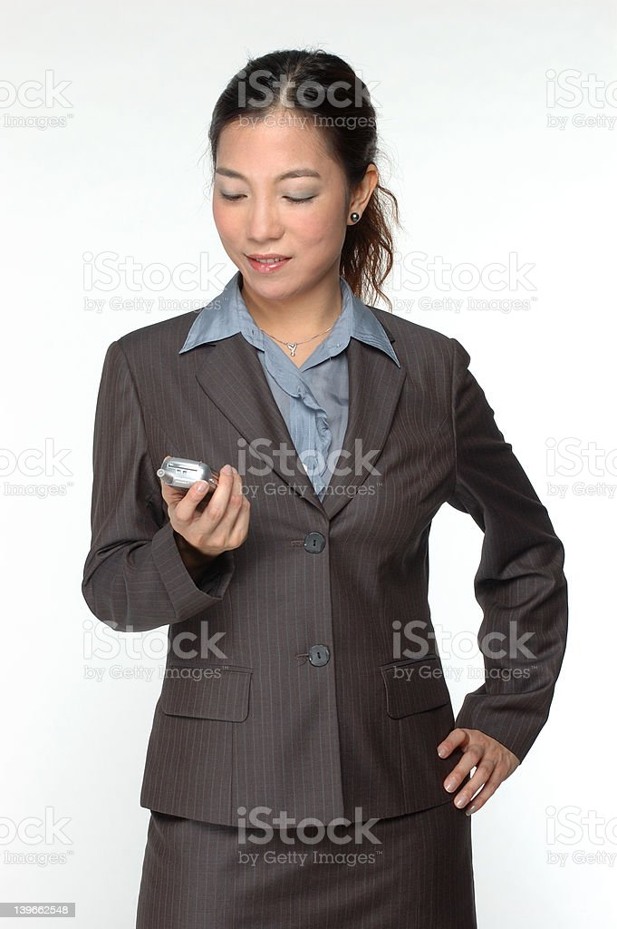 female asian business executive royalty-free stock photo