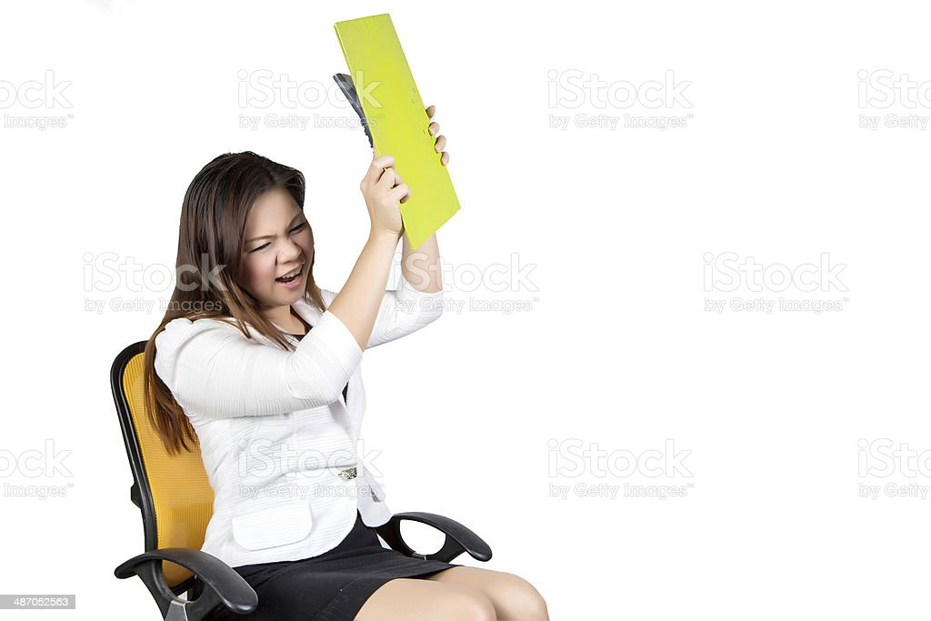 female asian business executive stock photo