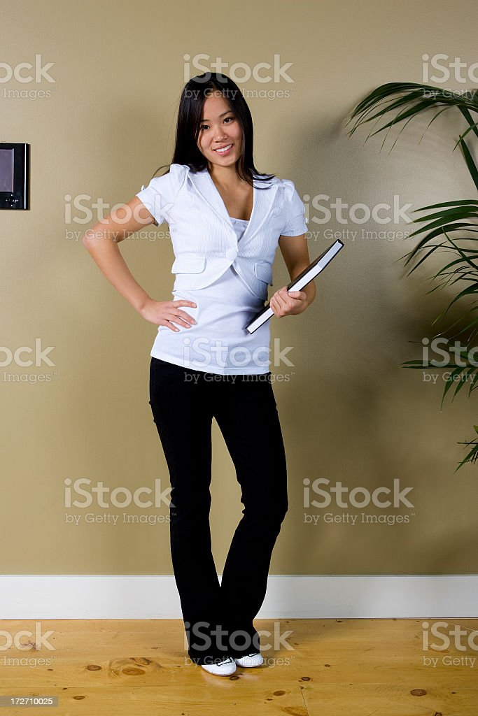 Female Asian Student Portrait royalty-free stock photo