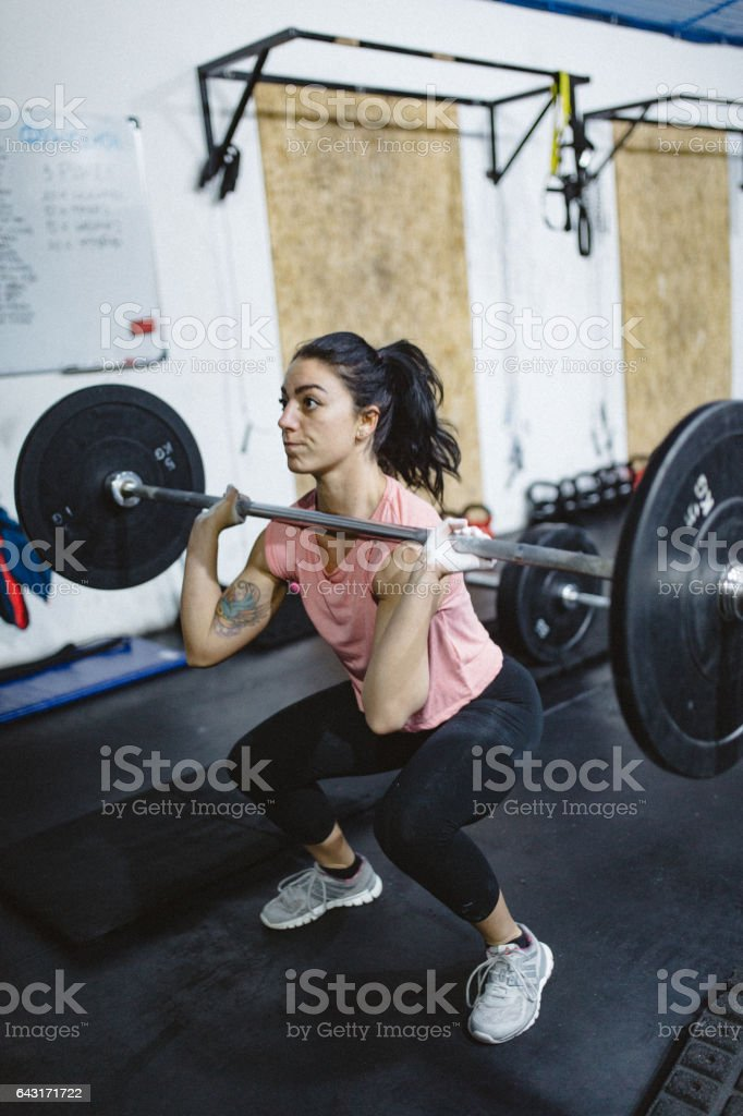 Female Athlete Dead Lift stock photo