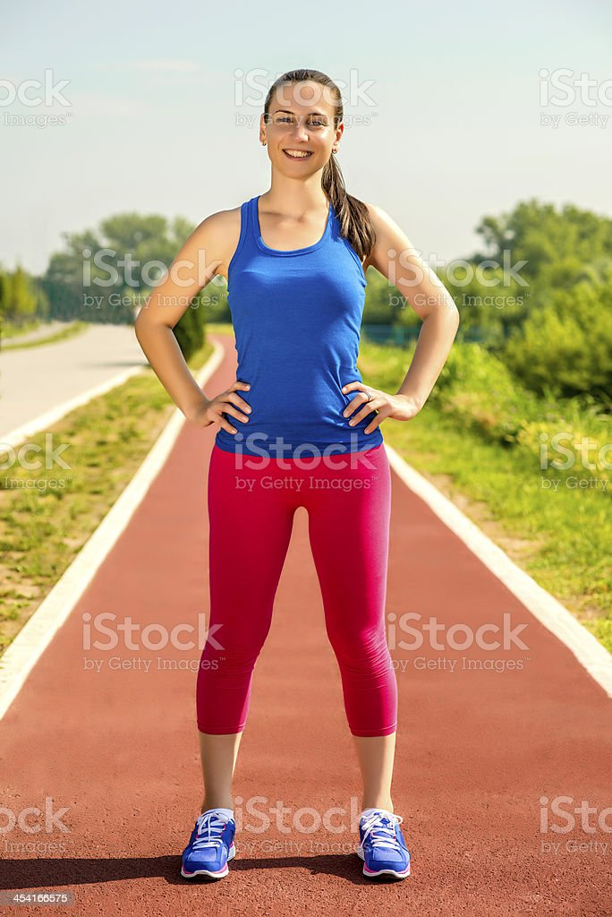 Female athlete royalty-free stock photo