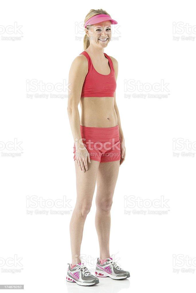 Female athlete smiling royalty-free stock photo