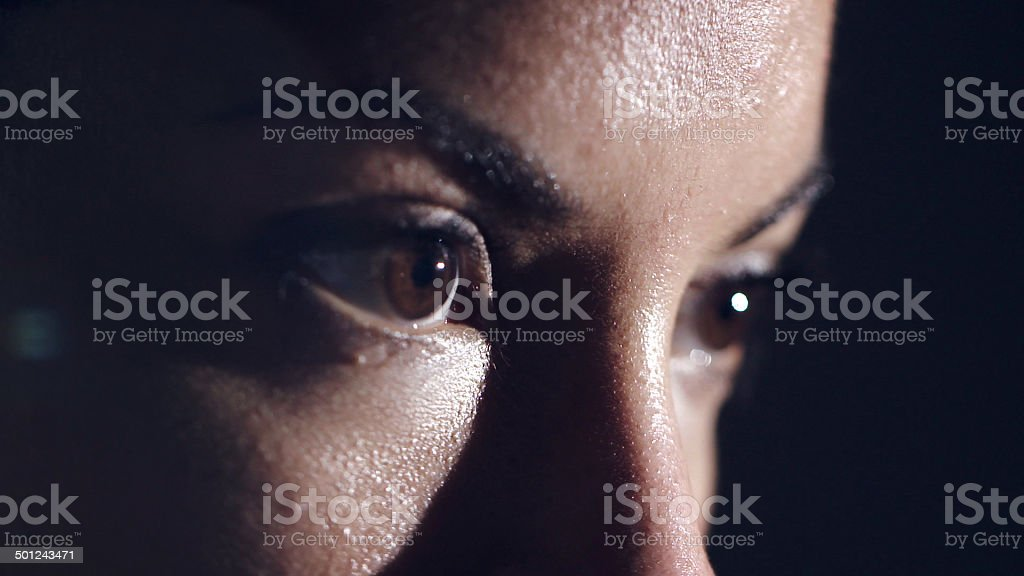 Female Athlete's Eyes stock photo