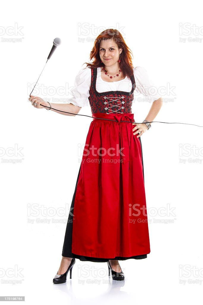 Female Austrian Singer royalty-free stock photo