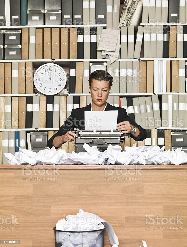 Female Author royalty-free stock photo