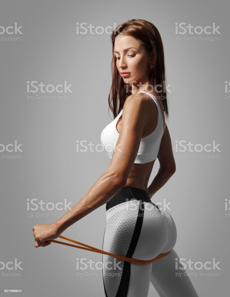 female back and buttocks stock photo