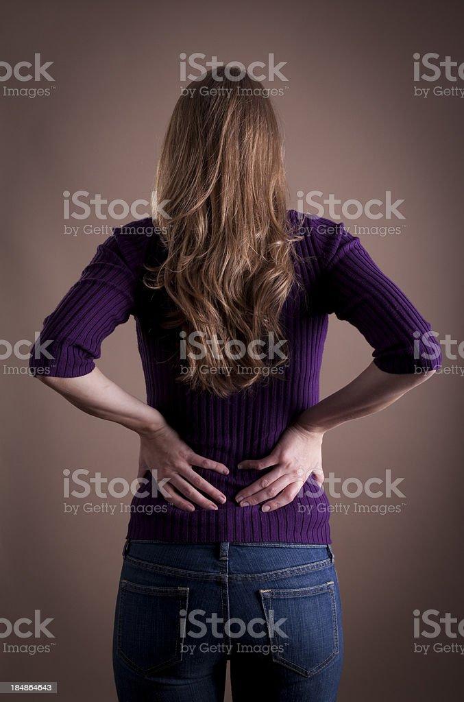 Female back pain royalty-free stock photo