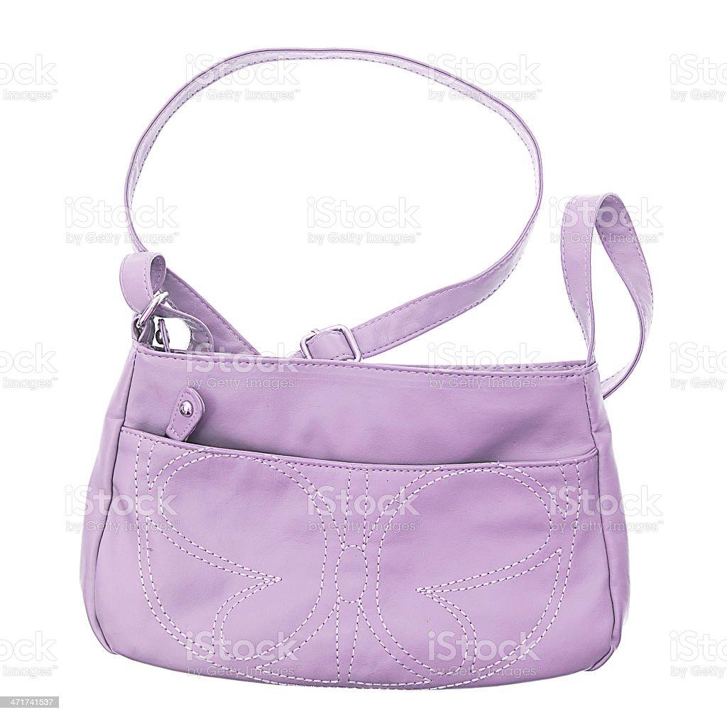 female bag isolated on white royalty-free stock photo