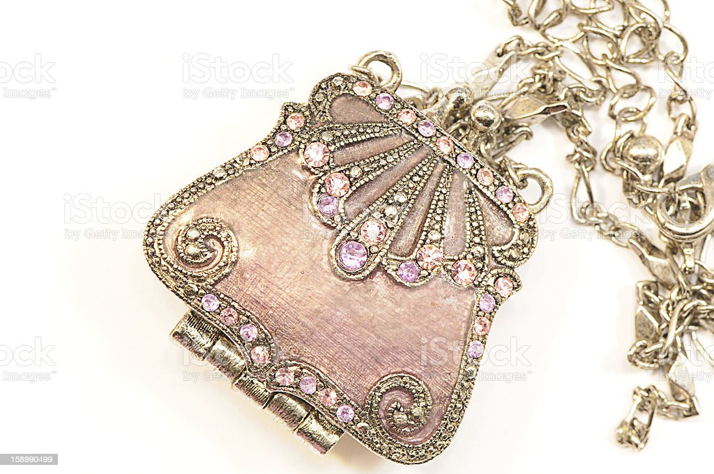 Female bag Pendant  with chain stock photo