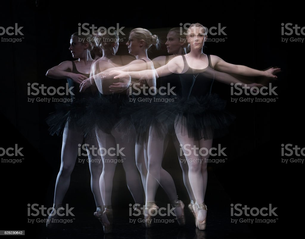 Female ballet dancing stock photo