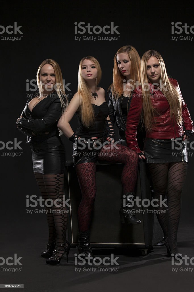 Female Band royalty-free stock photo