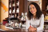 Female bar owner