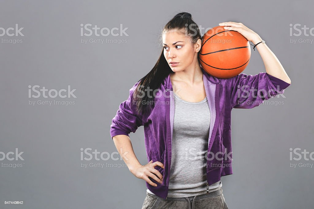 Female basketball player stock photo
