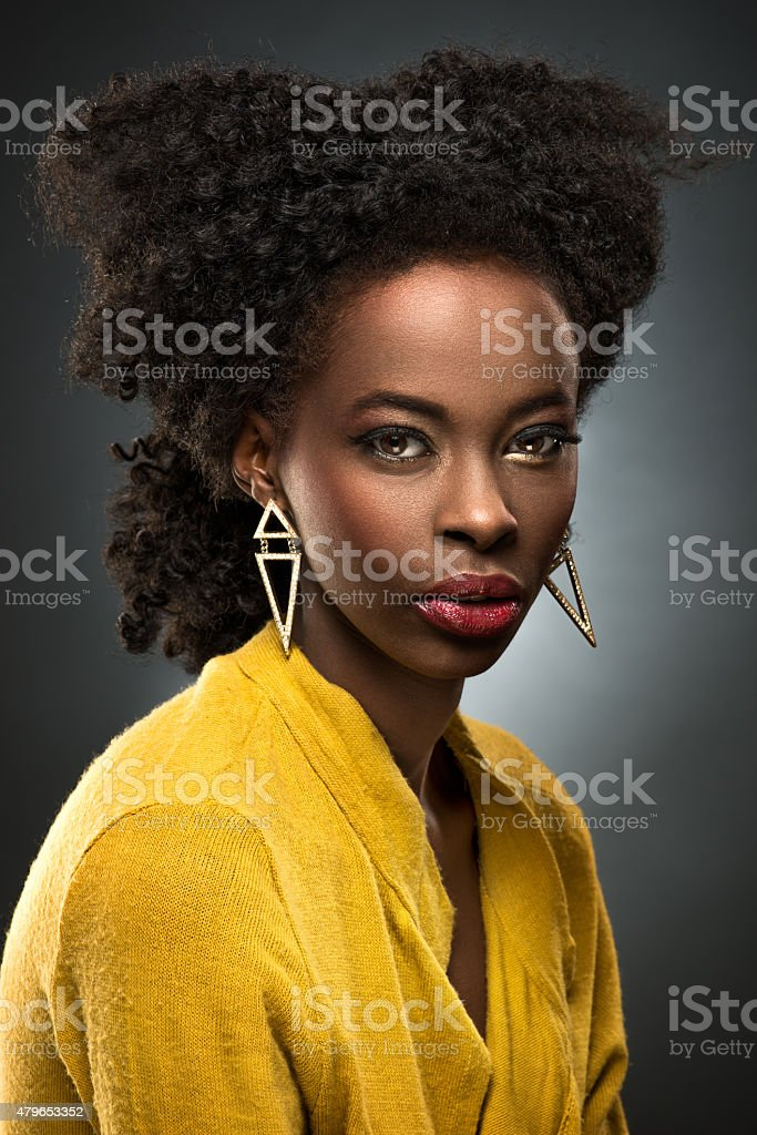 Female beauty portrait stock photo