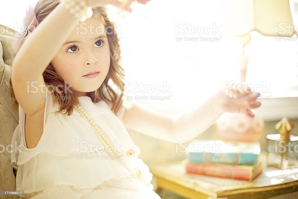 female beauty vintage happiness little girl royalty-free stock photo