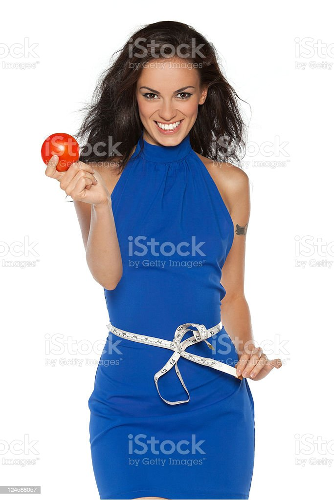 Female belted by measurement type royalty-free stock photo