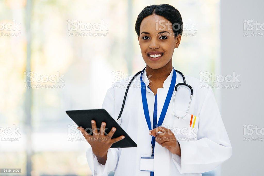 Female black Doctor Portrait stock photo