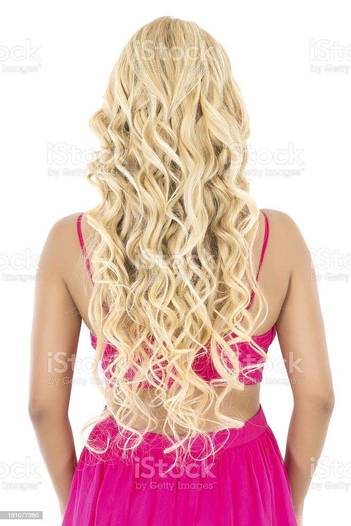 Female Blonde Long Hair stock photo