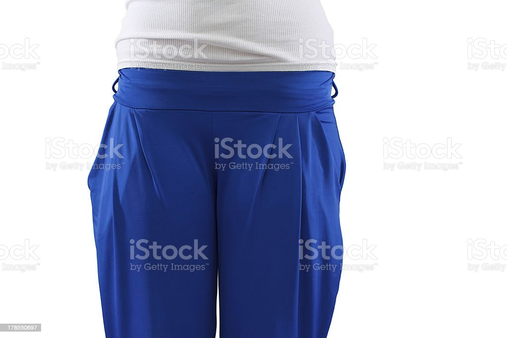 Female blue tracksuit closeup royalty-free stock photo