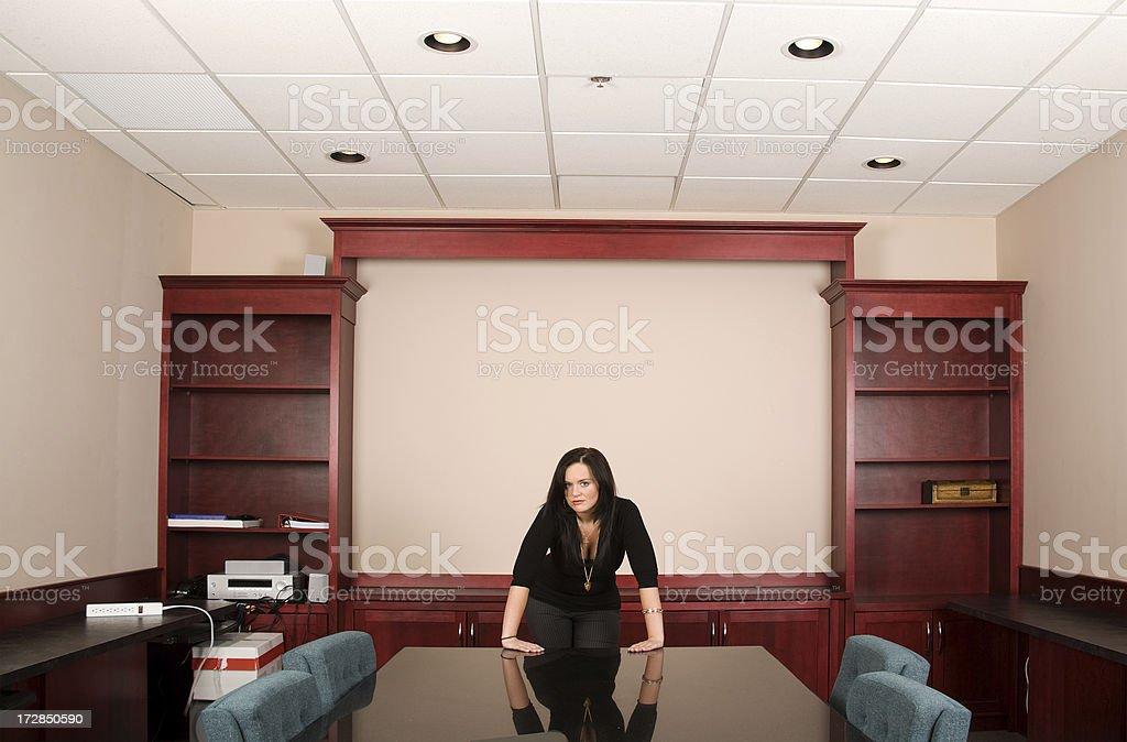 Female Boardroom Executive royalty-free stock photo