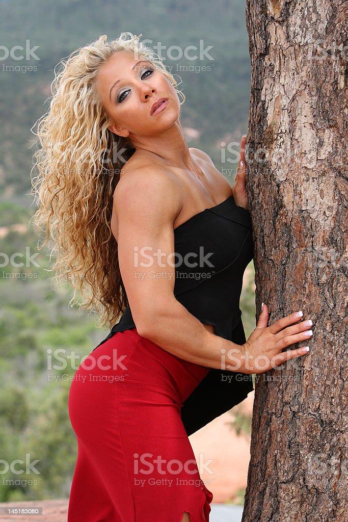 Female bodybuilder royalty-free stock photo