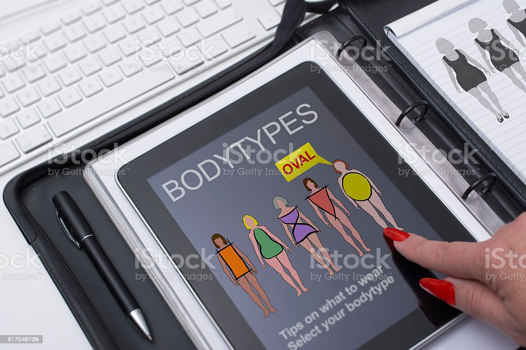 female bodyshapes stock photo